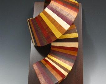 wood sculpture , wall hanging , abstract art, sculpture