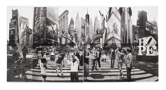 New York City Fine  Art - Original Art - Etching - Print - Photography - Photo Collage - Photogravure - New York - Times Square - Tourists