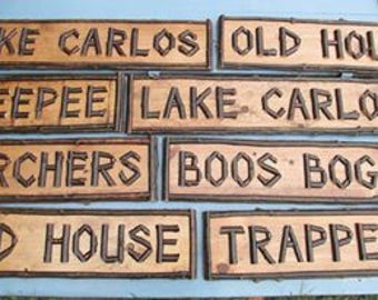 Rustic twig signs Made to order custom Adirondack Decor prices vary