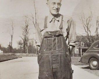 Original Vintage Photograph The Janitor