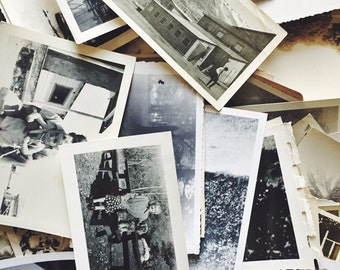 Mystery Lot of Original Antique Black & White Photographs | Instant Collection | Quanity : 50