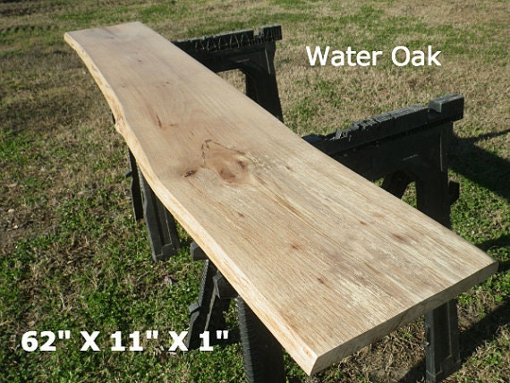 Live Edge Foyer Table Top Finished Water Oak Wood Slab Diy