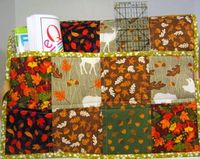 Fall Pockets Quilted Sewing Machine Dust Cover