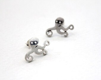 Octopus earrings Animal jewelry Octopus tentacles Animal stud earrings Jewelry gift ideas for girlfriend Cthulhu Tentacles steampunk