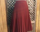 Vintage Electric Pleated Skirt