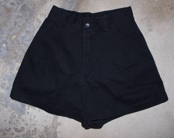 "Black vintage espirit high waist shorts size 7/8 25"" waist"