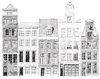 houses on the Reguliersgracht, Amsterdam — limited edition archival print