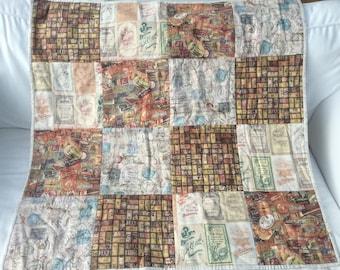 Lap Quilt in Tim Holtz fabrics