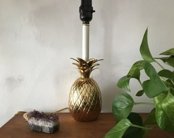 vintage brass pineapple lamp hollywood regency pineapple lamp retro pineapple lamp - Pineapple Lamp