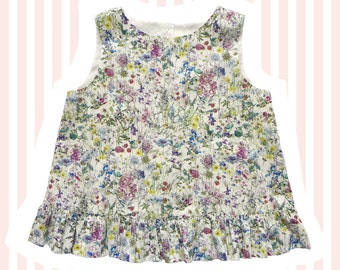 Girl's Liberty of London Ruffle Swing Top | Wild Flowers