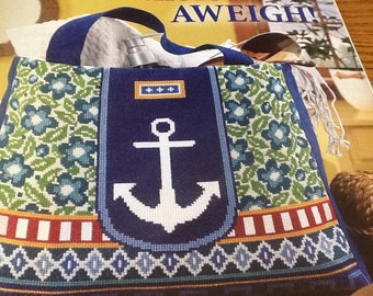 C - Anchors Aweigh - Nautical Tote - Cross Stitch Pattern Only