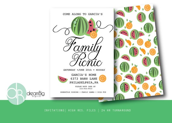 Family Digital Picnic Invitations Company Picnic Flyer Family