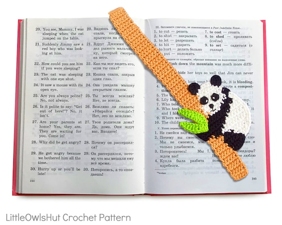 136 Crochet Pattern Baby Panda Bookmark or decor - Amigurumi - PDF file by Zabelina Etsy