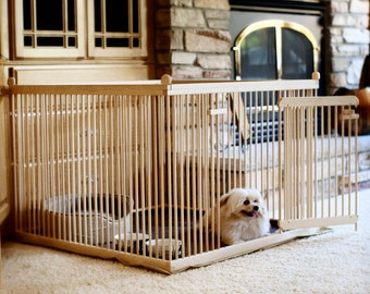 3u0027x3u0027 Solid RED OAK Dog Crate. This Portable Pen Includes The Waterproof