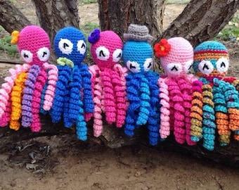 Crochet Octopus Preemie Baby Comfort Toy
