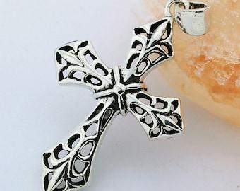 Bali Holy Cross Handmade 925 Sterling Silver Pendant Jewelry