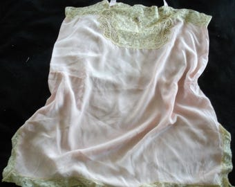 Authentic 1920s Flapper Teddy Slip with Lace Roaring Twenties Large