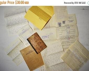 SALE Big lot antique vintage photographs, letters and paper ephemera