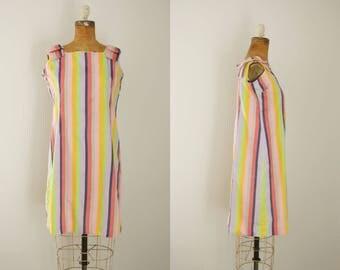 1960s dress | vintage mod 60s striped dress