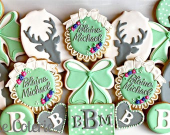 Deer Little One Stag Themed Baby Shower Cookies Party Favors One Dozen