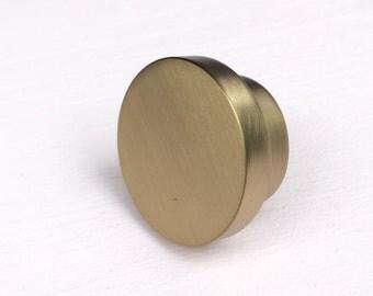 Geo Brass Cabinet Knob. Drawer Pull. Cabinet Pull.