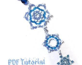 Beaded Snowflake Chain Ornament PDF Tutorial