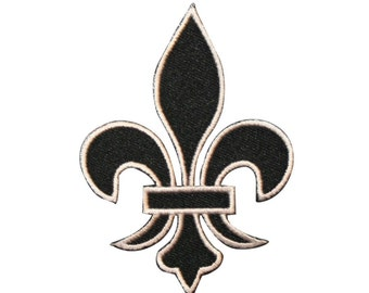 ID 3392 Fleur-de-lis French Lily Heraldry Symbol Design Iron On Applique Patch