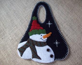 Happy Snowman Christmas Winter Door Hanger