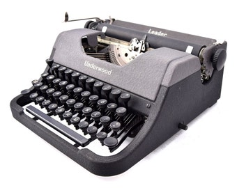 Underwood Leader Typewriter Professionally Refurbished Portable w/New Platen and Feet and Two New Ribbons