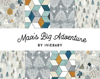 Max's Big Adventure Bedding. Baby Bedding. Adventure Baby Bedding. Woodland Baby Bedding. Crib Sheet. Crib Skirt. Nursing Pillow Cover.