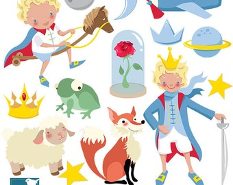 My Prince Digital Clipart - Scrapbooking , card design, invitations, stickers, paper crafts, web design - INSTANT DOWNLOAD