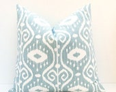 15% Off Sale Euro Pillow Sham ONE 26x26 Pillow Cover Blue Green Pillow Decorative Gray Blue Pillow Decorative Throw Pillow Cover