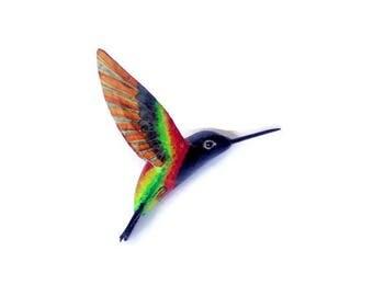 Hummingbird Paper mache Sculpture Art Bird figurine