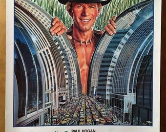 Mini Movie Poster, Crocodile Dundee with Paul Hogan.