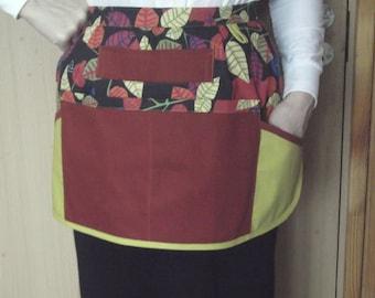 Cafe half apron vendor cotton apron teacher apron kitchen waist apron best gift ideas