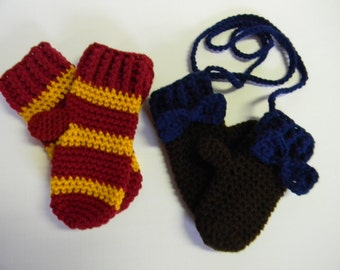 Crochet Mittens - Any Color Or Color Combination - Can Also Be Made To Match Your Hat Purchase