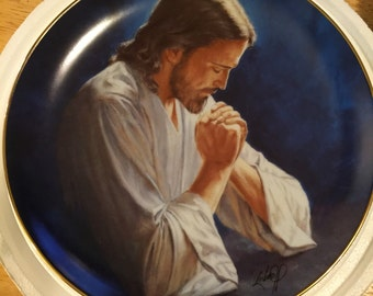 Danbury Mint Collectible Plate - Hour of Prayer