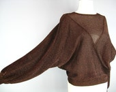 Copper Lurex Top / Vtg 80...