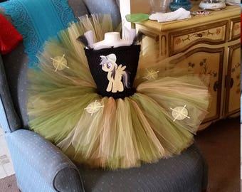 Daring Do or any  My Little Pony  Costume Flower Girl Tutu Dress