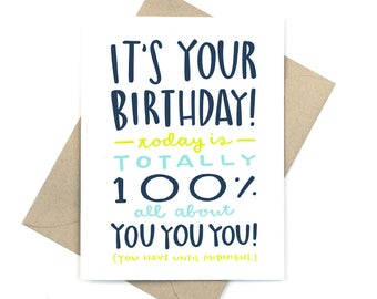 birthday card - all about you
