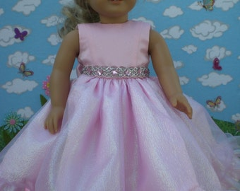 Pretty in Pink dress for 18 inch doll like American Girl