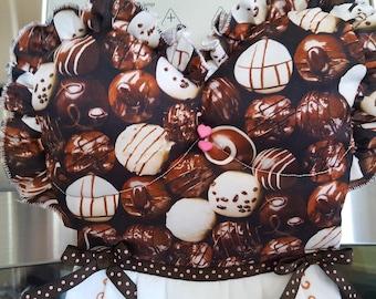 CHOCOLATE Truffles So Delightful Kitchen Oven Door Dish Towel Dress