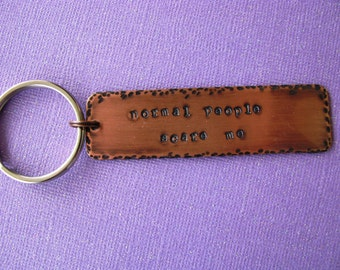 AHS, American Horror Story, Normal People Scare Me, Murder House, TV Quotes, Copper, Keychain