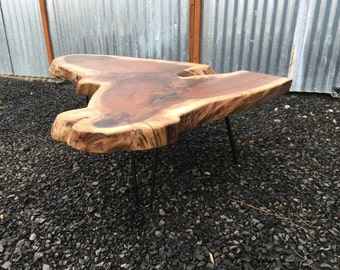 Made to OrderWood Coffee Table Raw Wood Table Wood Slab