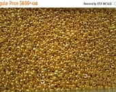 Boxing Week Sale RR-191, Miyuki Rocaille Beads, Size 15/0, Opaque 24kt Gold Finished - 2 grams or, choose a Larger Pkg from the 'Select an O