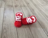 Hand knitted baby  Adidas  Booties,Baby unisex booties,Neoborn Baby Photo prop,Knitted set, booties,hat