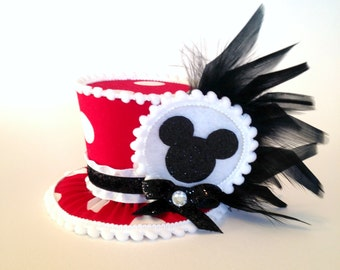 Mini Top Hat Headband, 1st Birthday, Minnie, Tea Party, Sparkle Birthday, Circus Costume, Photo Prop, Cake Smash, Pageant, MSC-007