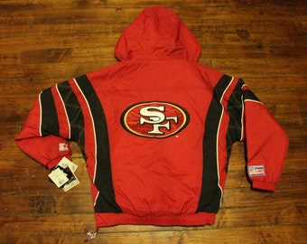 deadstock San Francisco 49ers starter jacket vtg NFL football vintage pullover winter coat Large