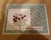 Snowman Friendship card