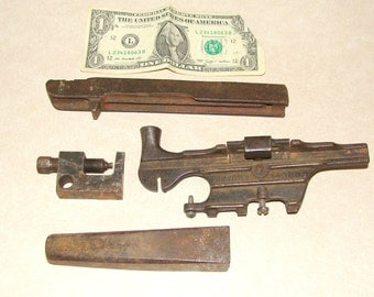 Antique Rusty Iron Saw Sharpening Tools Assortment (Saw Raker?) Patented July 14 1885
